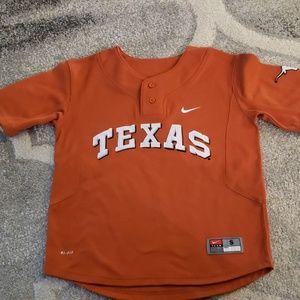Nike Texas Longhorns Baseball Jersey Youth Small